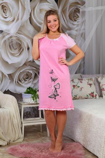 """Ночная сорочка """"Алина""""розовый"""