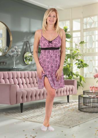 """Ночная сорочка """"Ассоль"""" трикотаж розовый"""